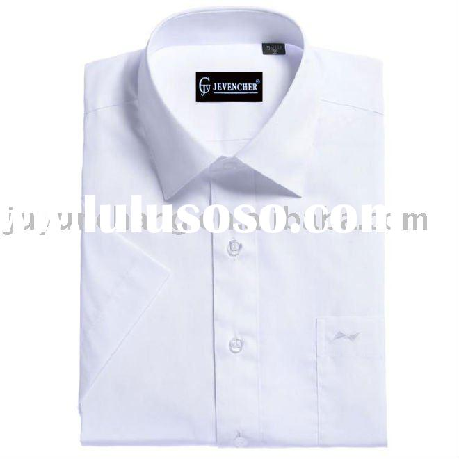 white color short sleeve casual shirt for men