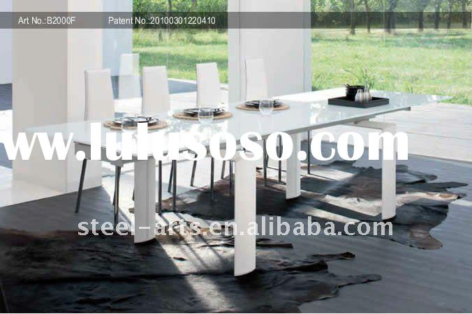 white glass dining table set