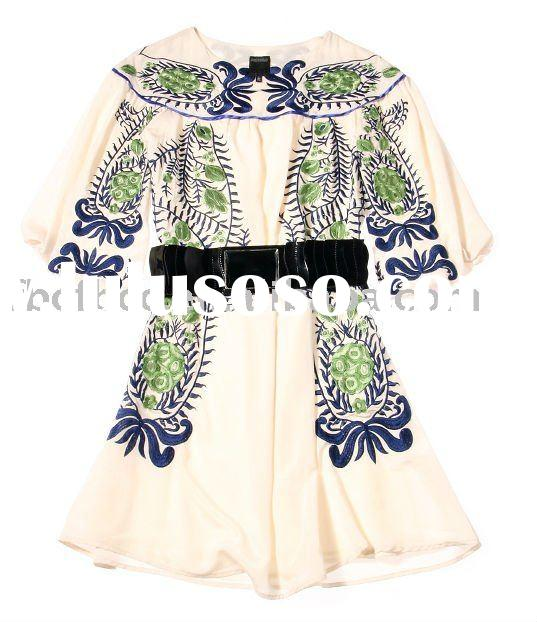 wholesale new style lady embroidered dress(548)