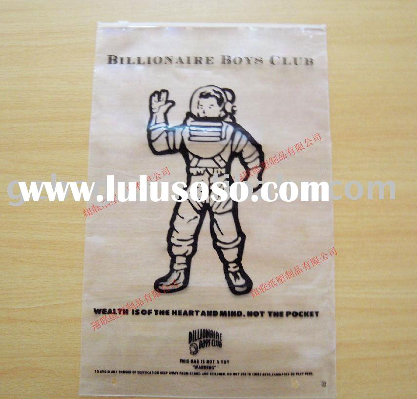 zip bag for packing cloth