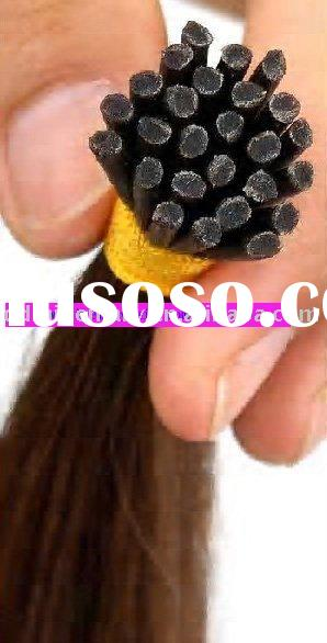 100% human hair prebonded hair extension i- tip/u-tip stick /nail