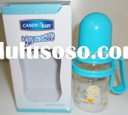 125ml baby bottle with flexiable handles