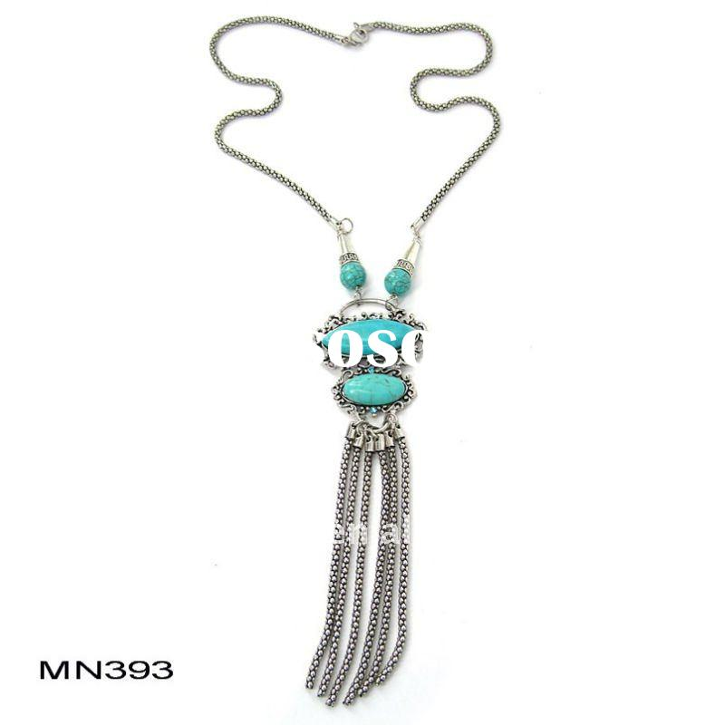 2011 Fashion Natural Stone Turquoise Necklace