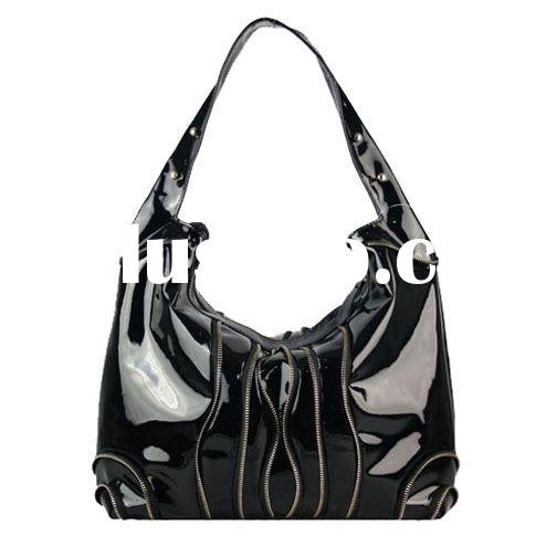 2011 newest!! natural leather bag,patent leather bag