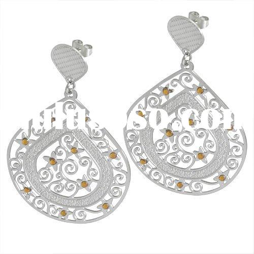 2012 Latest Exotic Chandelier Earrings for women wholesale stainless steel fashion jewelry