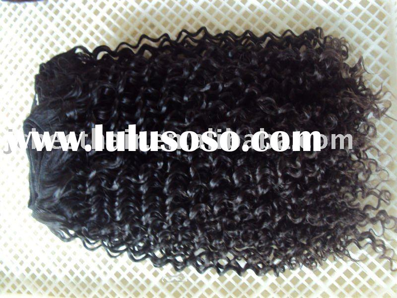 French Curl Indian remy human hair extension/weft