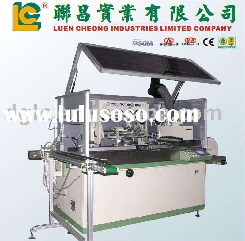 Full Auto Screen Printing Machine for Plastic Bottle with UV Curing System
