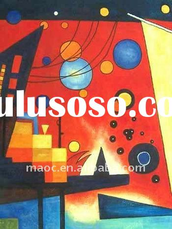 Geometric shapes for decoration abstraction painting