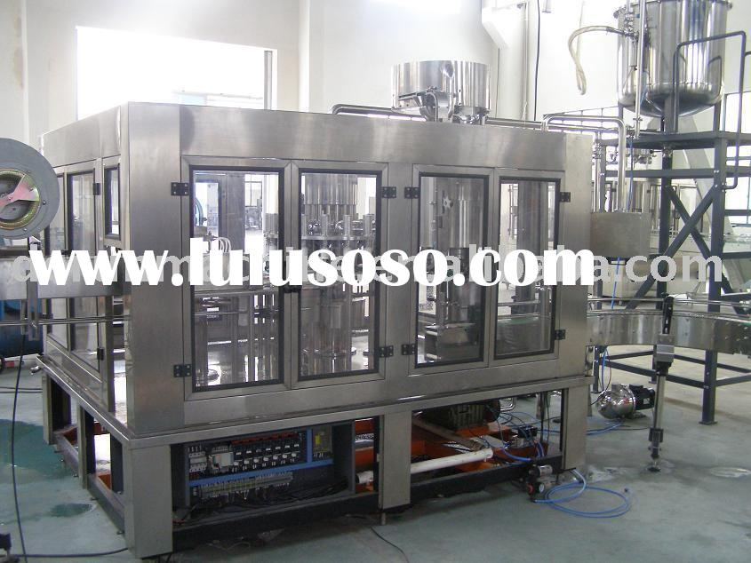 Glass bottle juice filling production line