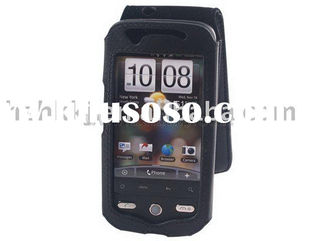 Leather Case For HTC Droid Eris Type C (Black)*leather flip case for htc*vertical black leather case
