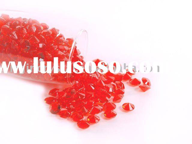 Red Wedding Acrylic Diamond Table Scatters Decoration