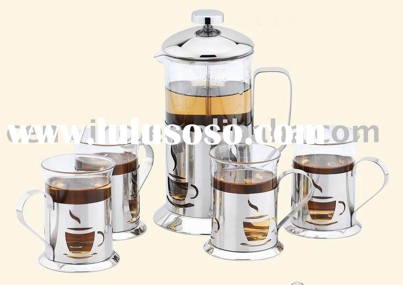 Tea cup (Glass cup,french coffee press ,stainless steel coffee maker )
