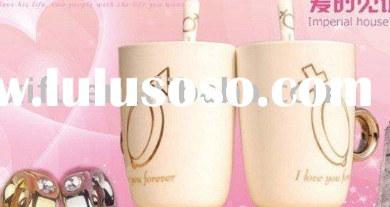 Valentine's day gift! Ring cup,porcelain cup set,porcelain coffee mug