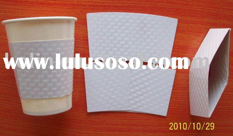 embossed, special design paper cup with sleeve