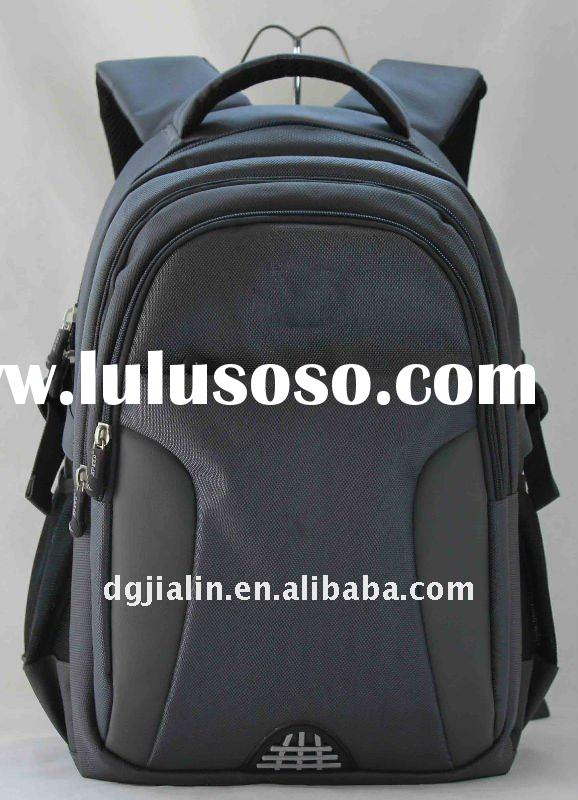 fashion black nylon laptop backpack