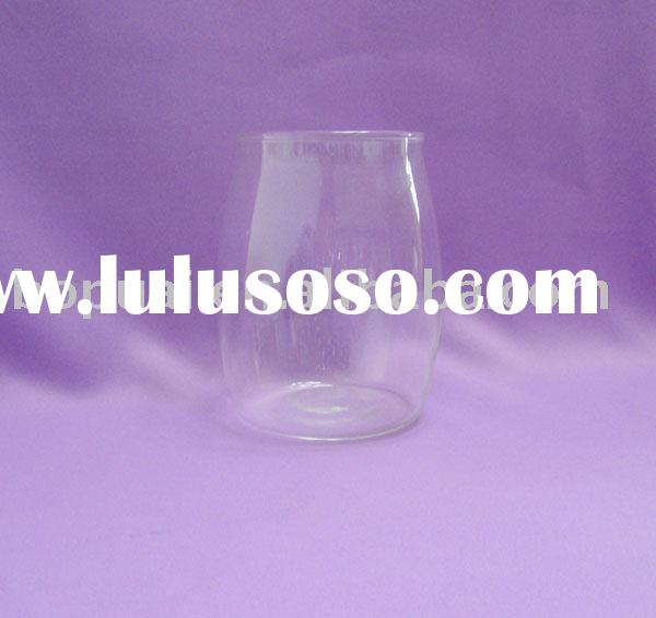 glass candle stick/glass candle holder (glass factory) HOT!!!