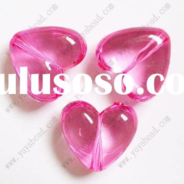 heart shaped crystal acrylic beads