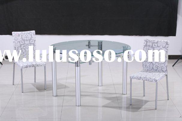 home furniture-modern clear glass dining room tables