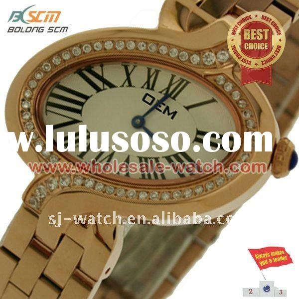 latest famous style Stainless steel lady fashion design watch