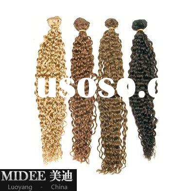 loose curly african human hair weaving/curly hair extensions