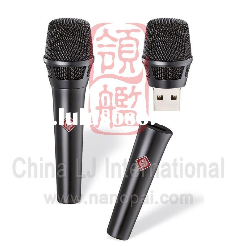metal microphone shape usb flash drive, music promotional gift usb stick, microphone pen drive gift
