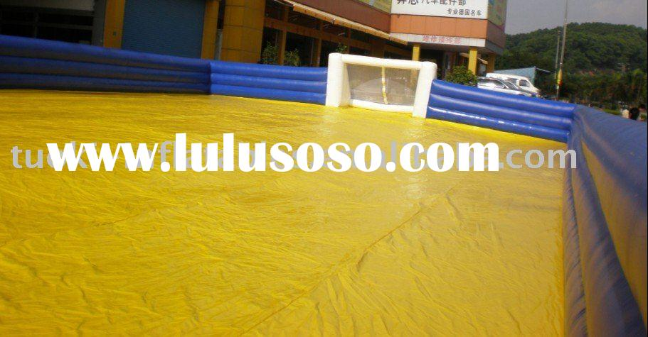 soap football field(inflatable soccer pitch,inflatable sports games)