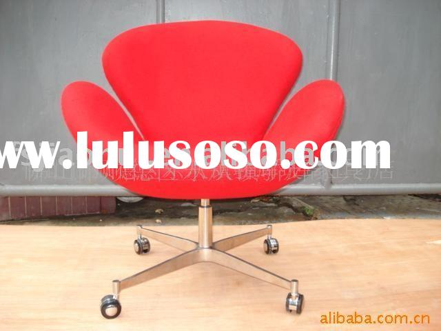 swan egg office chair-China modern classic designer fiberglass furniture factory