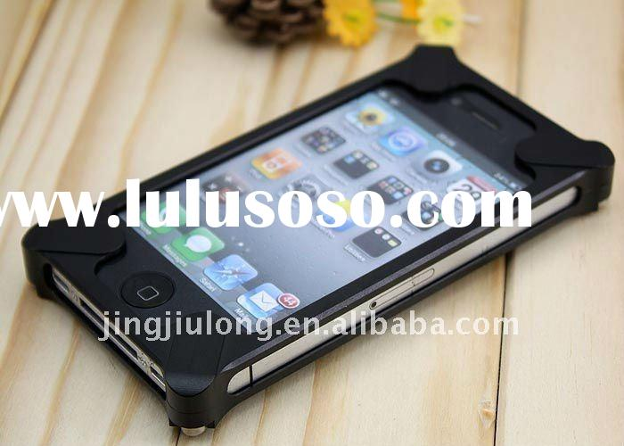 wholesale fly mobile phone accessories, aluminum mobile phone bumper Case For Iphone 4