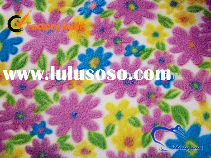 100% Polyester 3D Three-dimensional printing fleece fabric blanket