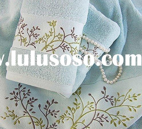 100%cotton 21yarns embroidered jacquard adult face towel