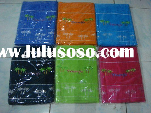 100% cotton jacquard terry towel stock lot