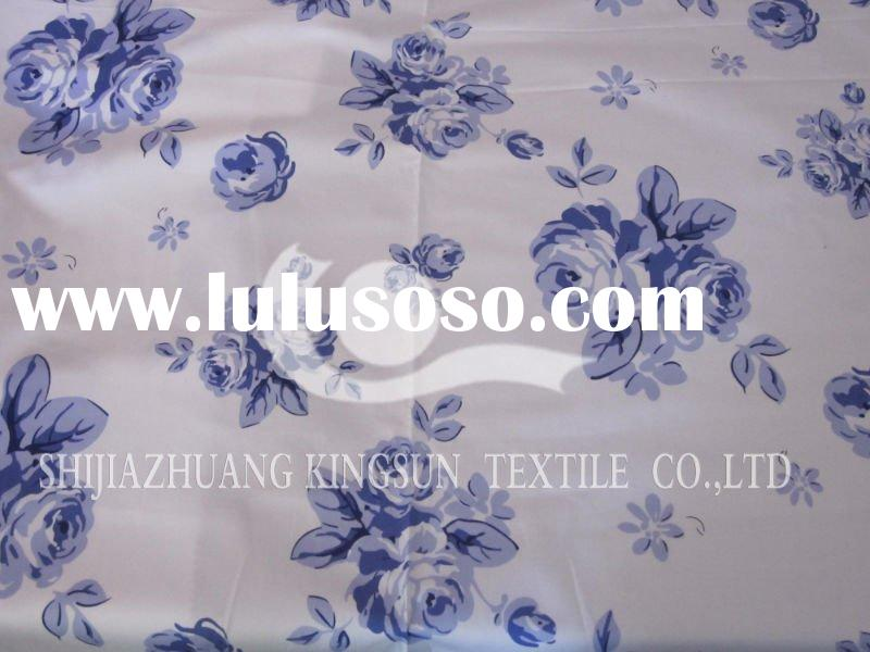 100%cotton satin printed bed sheet fabric
