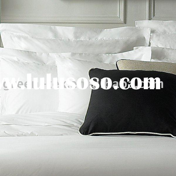 100 cotton white luxury satin stripes hotel bedding set and bed linen