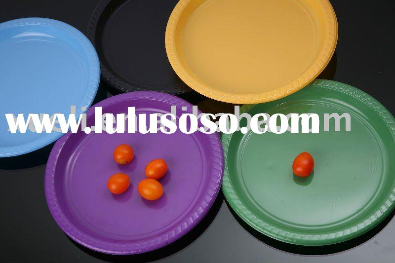 12 inch disposable colored plastic round plate