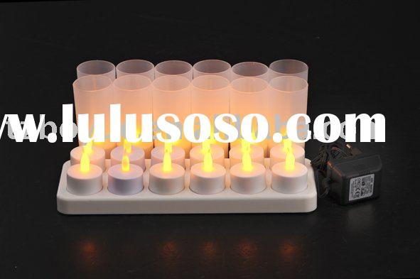 12pcs led rechargeable candle light, led tea light