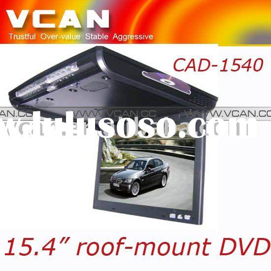 15.4 inch car dvd roof mounted over head TFT LCD monitor