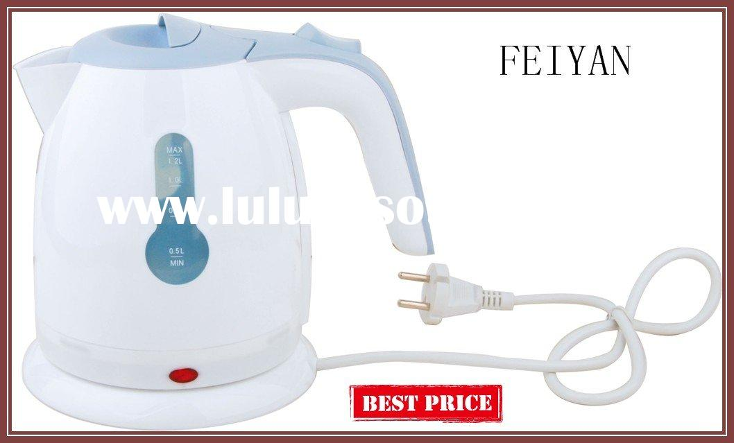 1.2L cordless plastic electric mini kettle
