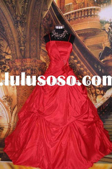 2010 New Style Popular Cheap Fashion Red quinceanera dresses