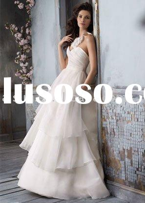 2011 Jim Hjelm JH8100 Strapless Organza Ball Gown Chapel Train Bridal Gown Wedding Dresses