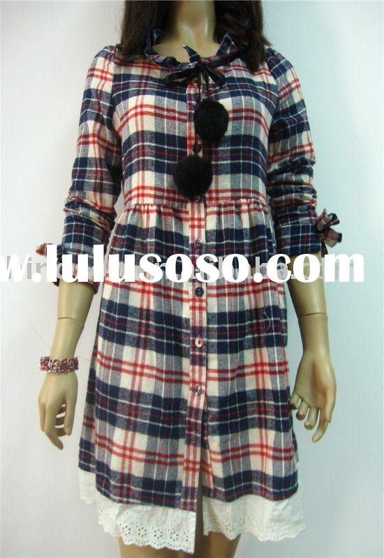 2011 NEW DESIGN FASHION LONG SLEEVE BLOUSE&DRESS Ladies Long Sleeve Skirts Dress Shirt