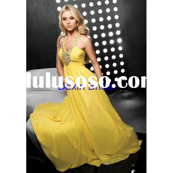 2011 New Style!Hot Sale Custom Made Fashional Chiffon Sleeveless Free shipping Evening Dress &Ee
