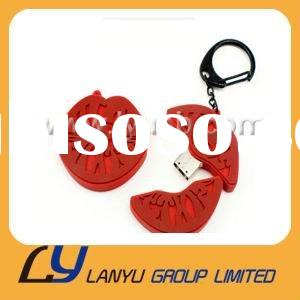 2011 funny red Lips USB flash memory 2GB 4GB 8GB