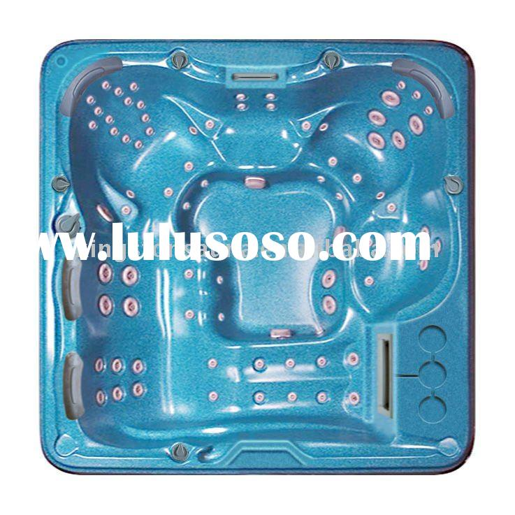 2011 new design acrylic fiberglass hot tub with pop-up tv