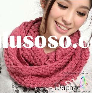2011 new fashion acrylic knitted tube scarf