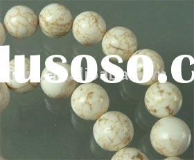 2011 newest Natural stone, imitation turquoise, round 10mm natural stone beads jewelry