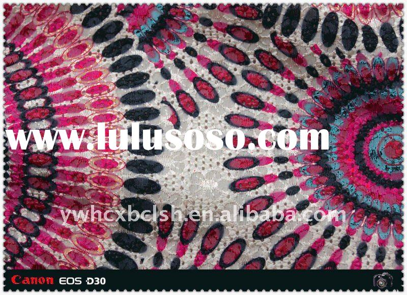 2011 the most hot sale taffeta and cotton fabric,embroidered with printing rainbow for ladybag and g