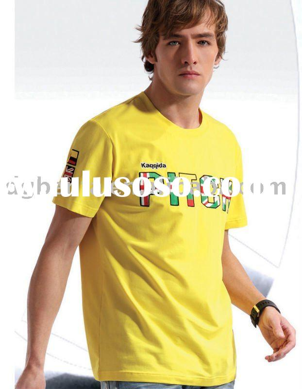 2012 Hot Selling High Quality Soft Summer Newest Design Plain Fashion Printing Cotton Man's