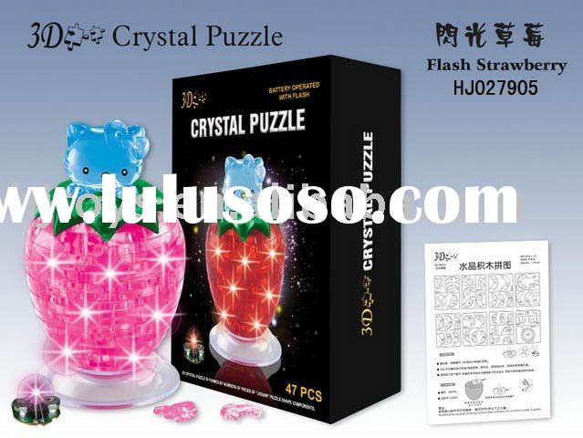 2012 Hot selling 3D crystal puzzle toys gifts HJ027905