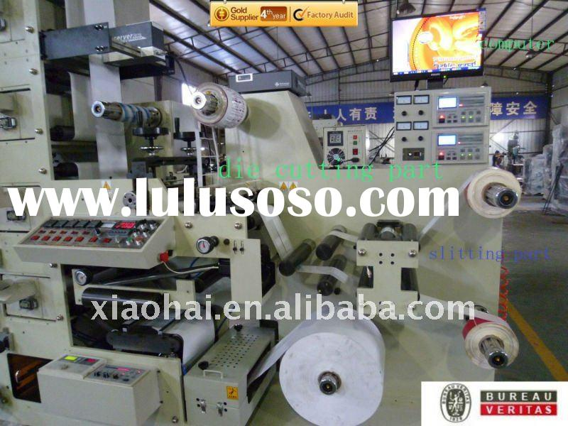 2012 NEW UV flexo sticker label printing machine ( With die cutting and slitting)
