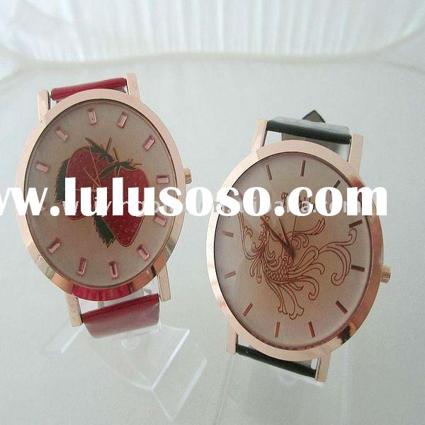 2012 Newest fashion ladies watch with PU leather strap alloy case